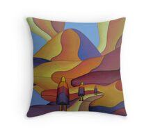Pilgrimage to the sacred mountain Throw Pillow