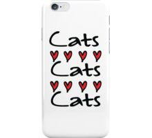 cats cats iPhone Case/Skin