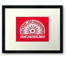 Street Sweeping Automotive Logo red Framed Print