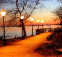 Sunset on the Promenade_Havre de Grace, Maryland USA by Hope Ledebur