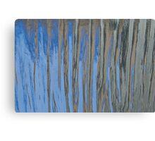 Blue flame trees Canvas Print