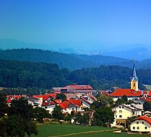 Village skyline on a summer afternoon by Patrick Jobst