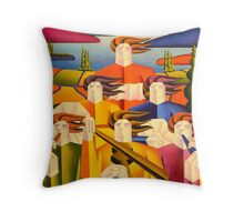 structured trad.session Throw Pillow