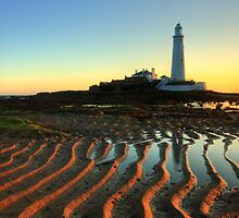 Spring morning at the lighthouse by Angi Wallace