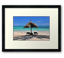 ZANZIBAR - Kiwengwa beach Framed Print