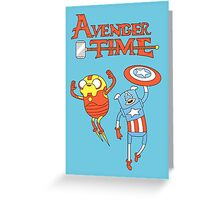 Finn and Jake Captain America and Ironman Greeting Card