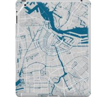 Amsterdam city map grey colour iPad Case/Skin