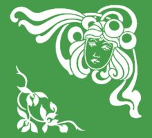 Cool Art Deco Face with Flourishes Kids Clothes