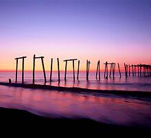 Pier at Sunrise by ezindo