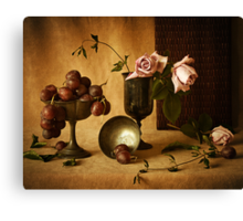 Grapes and Roses Canvas Print