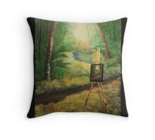 And the path goes ever on..and on... Throw Pillow