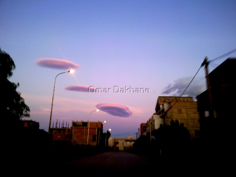 UFO Clouds  by Omar Dakhane