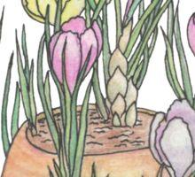 Cafe Flowers Sticker