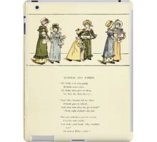 Marigold Garden Pictures and Rhymes Kate Grenaway 1900 0035 Mammas and Babies iPad Case/Skin