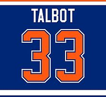 Edmonton Oilers Cam Talbot Jersey Back Phone Case by Russ Jericho
