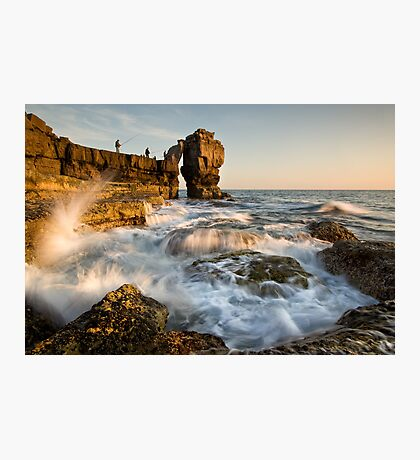 Fishing Pulpit Rock  Photographic Print