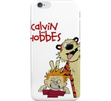calvin and hobbes laughing together in dreams iPhone Case/Skin