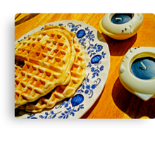 Belgian Waffles Canvas Print