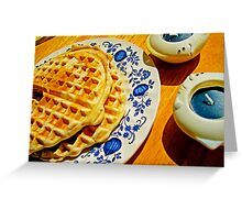 Belgian Waffles Greeting Card
