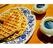 Belgian Waffles Photographic Print