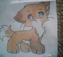 cute fox that i drew by lollapoppy