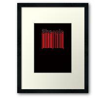 Sheeple Red Bar Framed Print