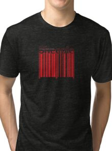 Sheeple Red Bar Tri-blend T-Shirt