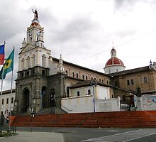 Cotacachi, Ecuador Cathedral by Al Bourassa