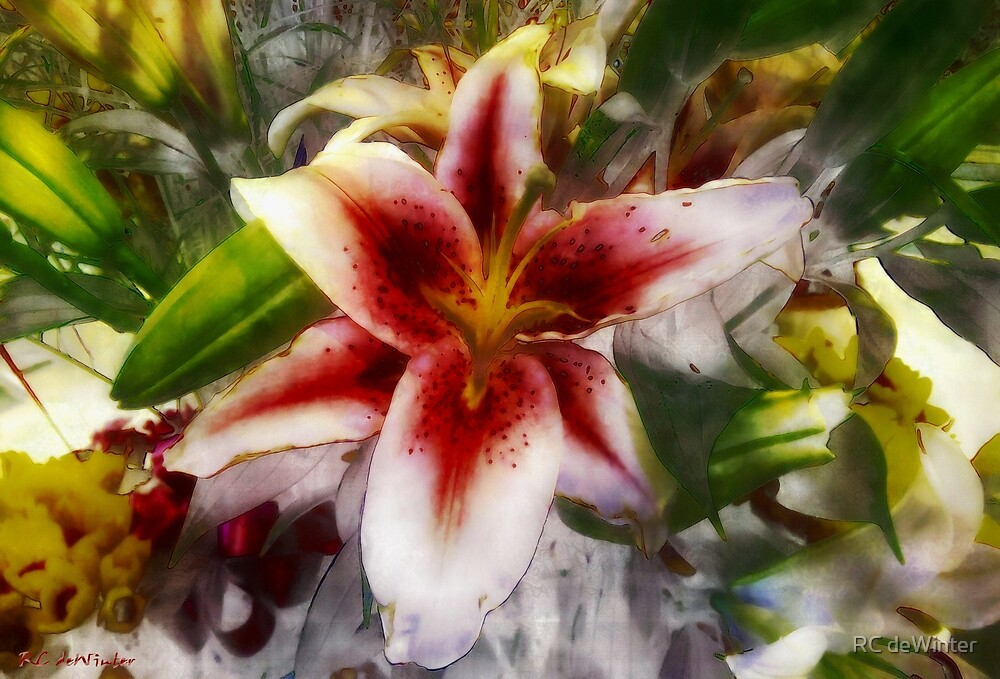 Pearly Petals, Satin Leaves by RC deWinter