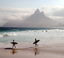 Surfers, Ipanema, Rio de Janeiro by SteveRuk