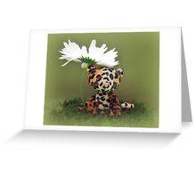 Lester Leopard - Handmade bears from Teddy Bear Orphans Greeting Card