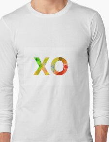 Watercolor alphabet minimalist painting Long Sleeve T-Shirt