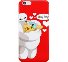 Baymax And Pikachu Hairy Baby iPhone Case/Skin