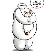 baymax hairy baby hero hug kitty by BrianCustomArt