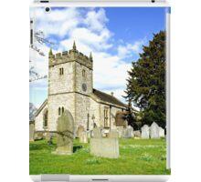 Holy Trinity Church, Ashford-in-the-Water iPad Case/Skin