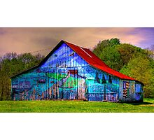 Barn gets a brush up Photographic Print