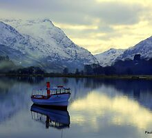Lone Boat -Snowdonia by Paula Walker