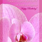 Pink Orchid  - birthday card by steppeland