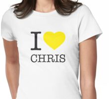 I ♥ CHRIS Womens Fitted T-Shirt