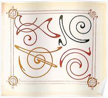 Maurice Verneuil Georges Auriol Alphonse Mucha Art Deco Nouveau Patterns Combinaisons Ornementalis 0011 Poster