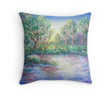 Blue Sunrise  Throw Pillow