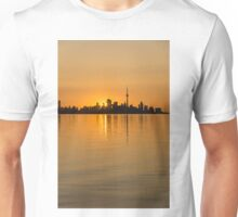 Brilliant Golden Yellow Toronto Skyline Unisex T-Shirt