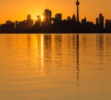 Brilliant Golden Yellow Toronto Skyline Sticker