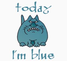 Today I'm blue One Piece - Short Sleeve