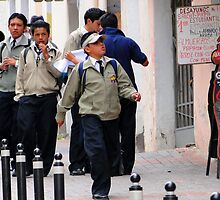 Quito Schoolboys by Al Bourassa