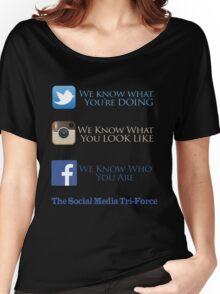 The Social Media Tri-Force Women's Relaxed Fit T-Shirt