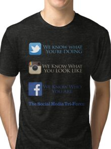 The Social Media Tri-Force Tri-blend T-Shirt