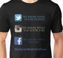 The Social Media Tri-Force Unisex T-Shirt