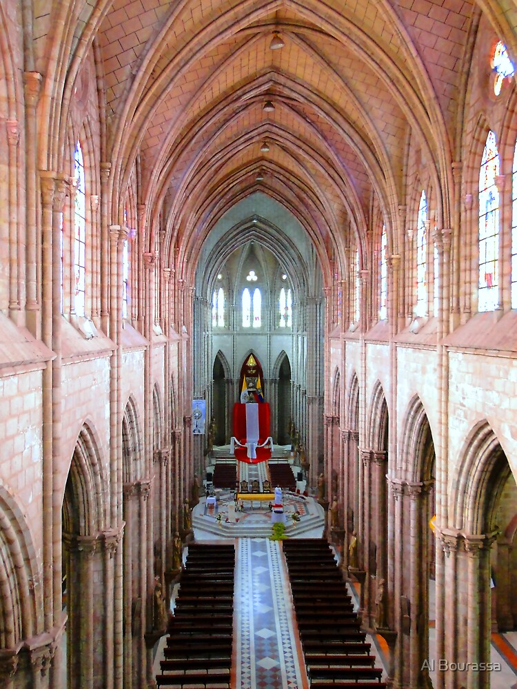 Interior Basilica del Voto Nacional, Quito, Ecuador by Al Bourassa
