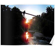 Bridge view of sunset Poster
